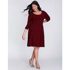 NWOT-Lane Bryant Burgundy Sweater Dress